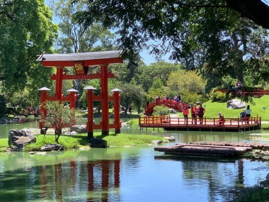 Jardim Japonês no bairro de Palermo em Buenos Aires